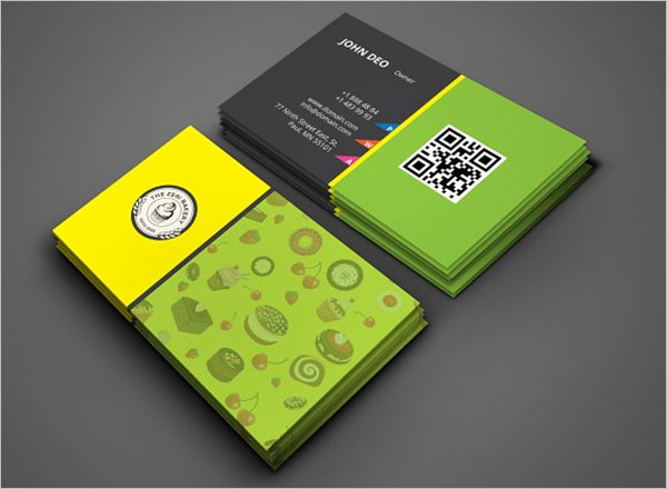 Catering Business Card Template PSD
