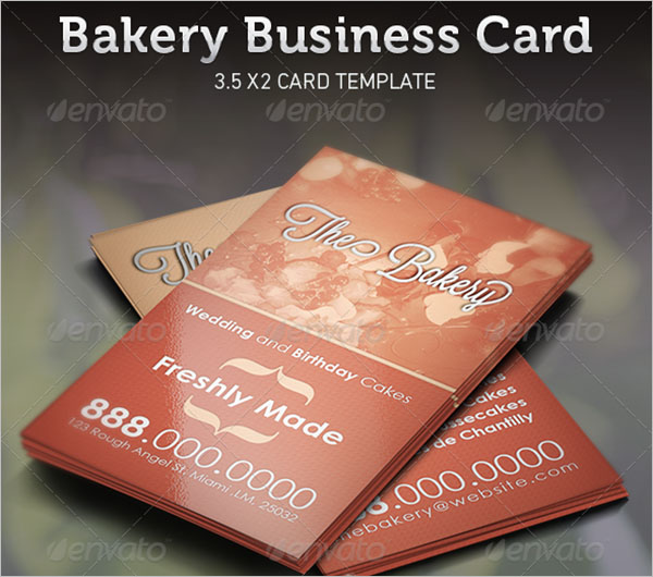 Catering Services Business Card Sample