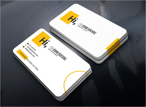 Chef Service Business Card Template