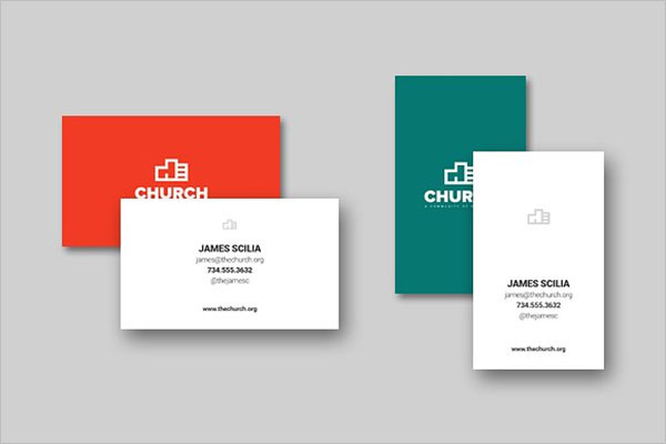 Church Business Card Design