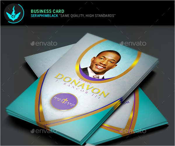 Church Business Card Template PSD