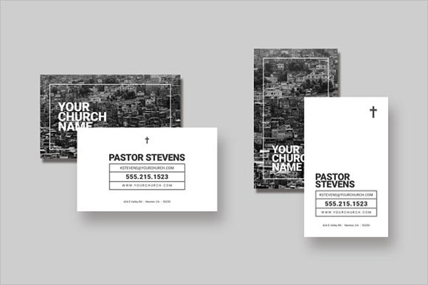 Church Business Card Template Word