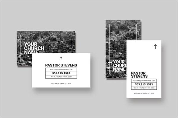 Church Business Card Template Word