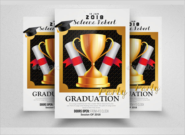 College Graduation Flyer Template