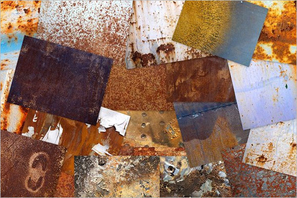 Colorful Rust Textures Design