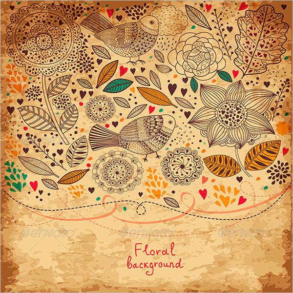 Colorful Vintage Floral Texture