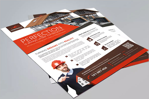 Construction Advertisement Flyer Template
