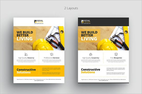 Construction Business Flyer Design