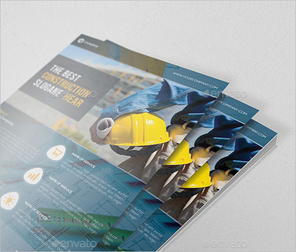 Construction Company Flyer Template in Word