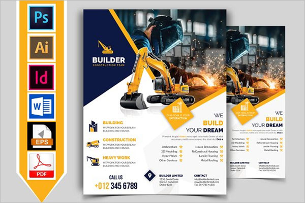 Construction Flyer Bundle Template