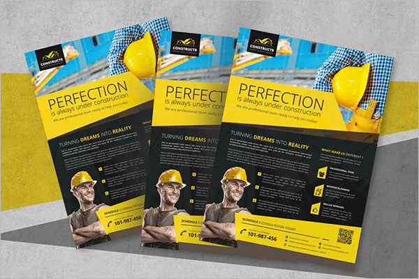 Construction Flyer Design Template