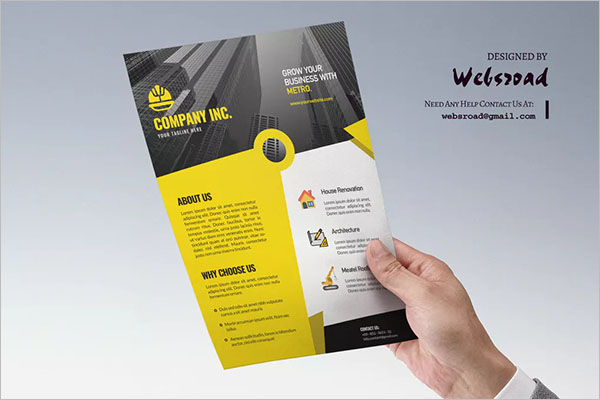 Construction Flyer PSD Template