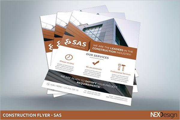 Corporate Construction Flyer Template