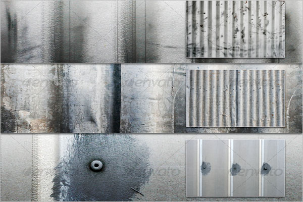 Corrugated Metal Texture Template