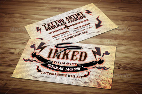 25 tattoo business card templates free vector psd designs create tattoo business card template flashek Images