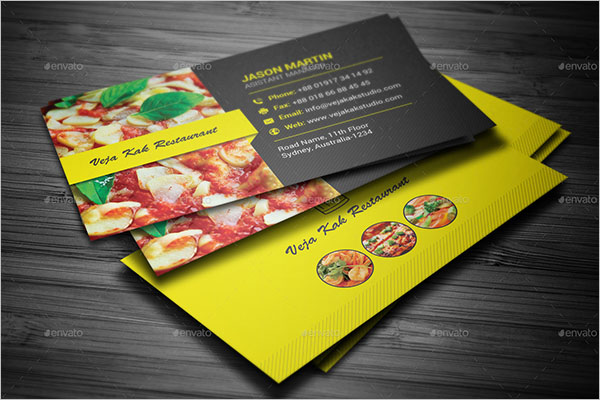 Creative Catering Business Card Template