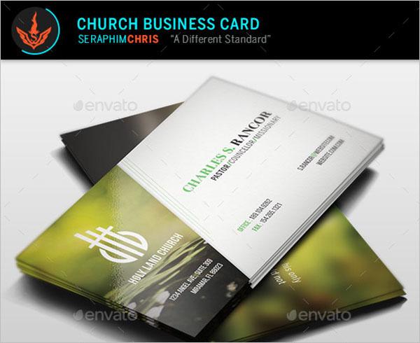 Creative Church Business Card Template