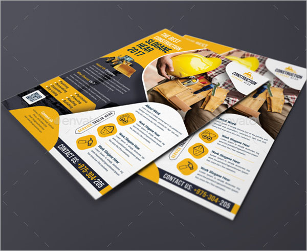 Creative Construction Flyer Template