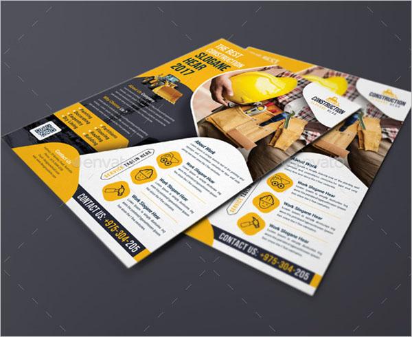 Creative Construction Flyer Template