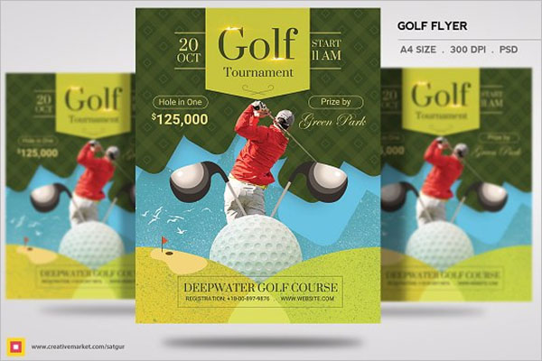 Creative Golf Flyer Template