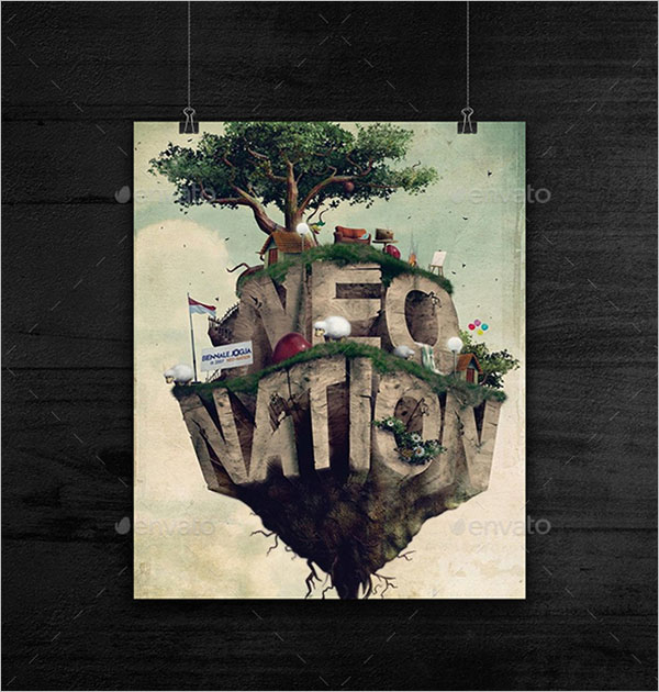 Creative Hanging Poster Design
