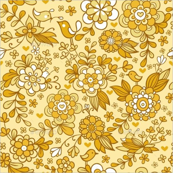 Creative Vintage Floral Texture
