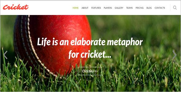 Cricket Joomla Club Theme