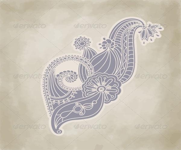 Customizable Floral Wallpaper Texture