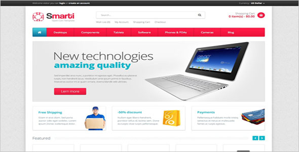 Customizable OpenCart Template