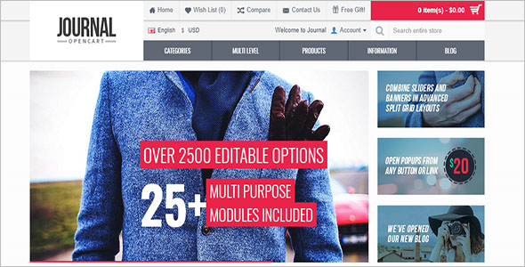 Customize Opencart Layout