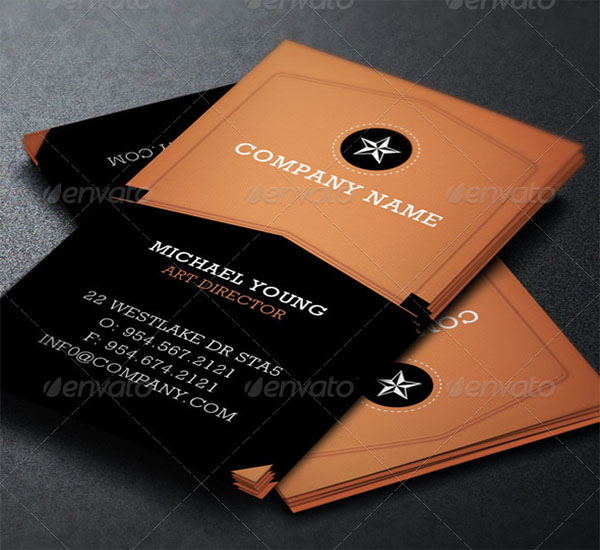 Director Business Card Template