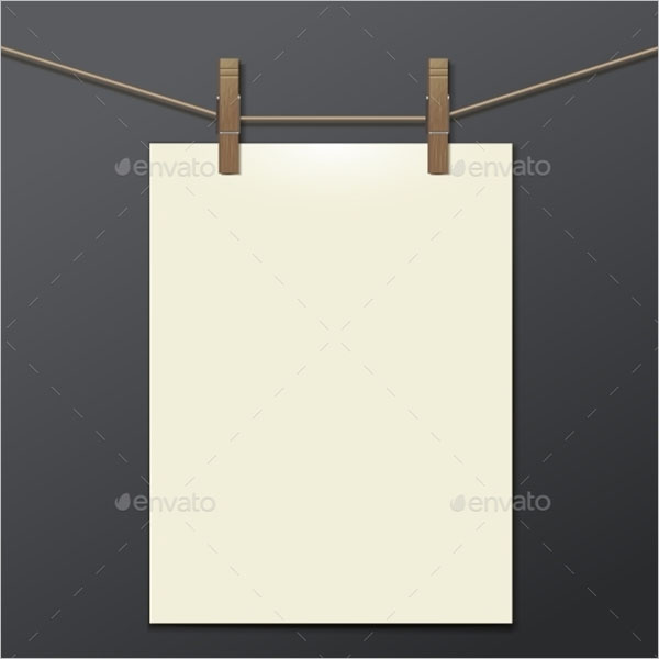 Display Hanging Poster Template