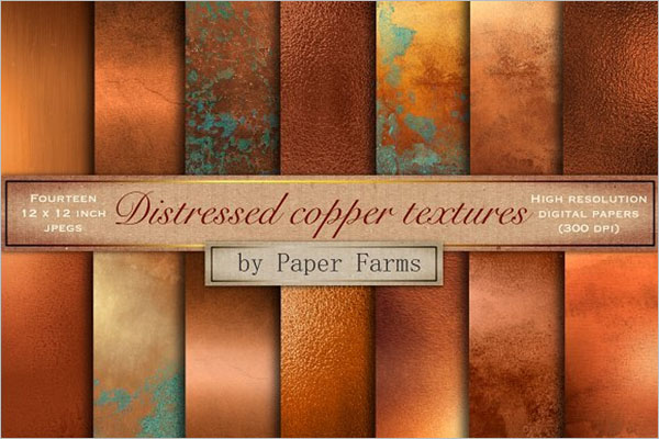 Distressed Copper Textures Design