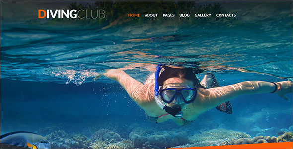 Diving Club Joomla Template