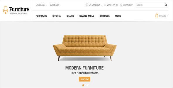 Ecommerce Furniture WordPress Theme