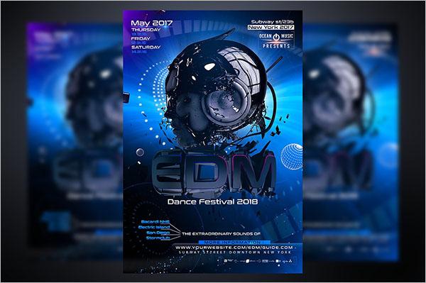 Editable 3D Flyer Template