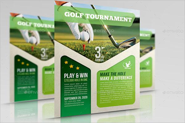 Editable Golf Tournament Flyer