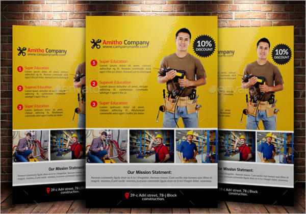 Editable Plumber Flyer Template