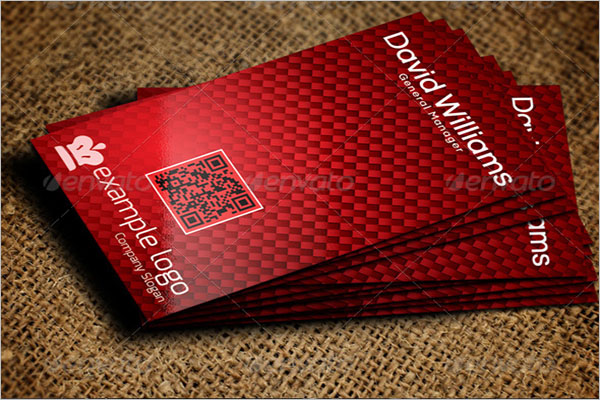 Editable QR Code Business Card Template