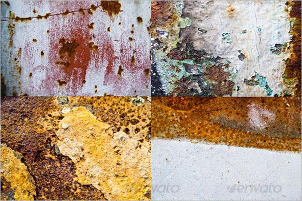 Editable Rust Textures Design