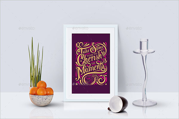 Editable Typography Poster Design