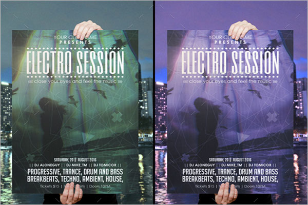 Electro Session Exposed Poster