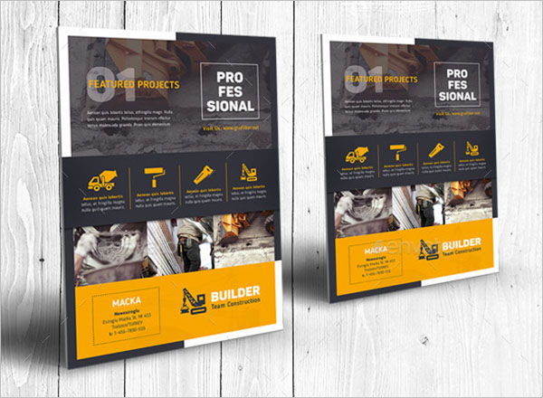 Elegant Construction Flyer Template
