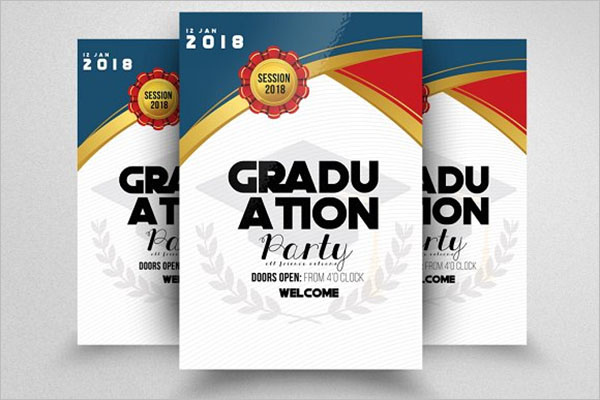 Elegant Graduation Flyer Template