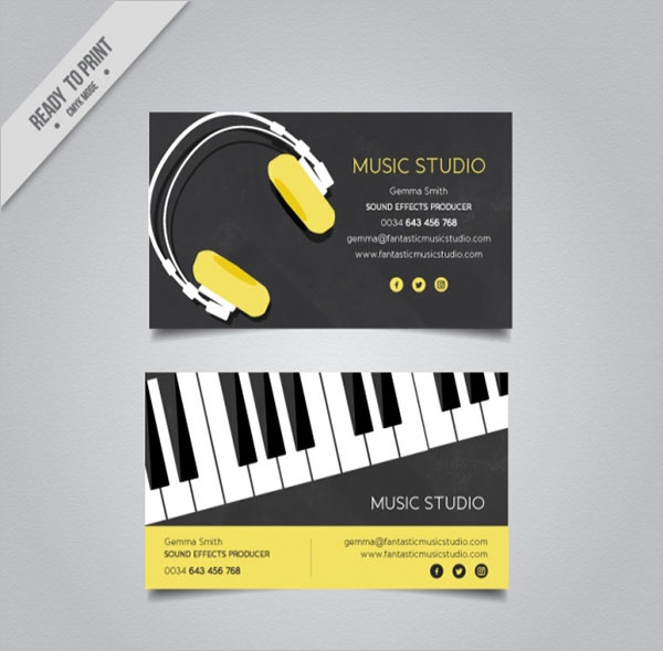 29+ Music Business Card Templates Free Word, PSD Designs
