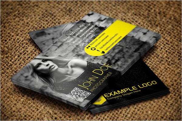 Elegant QR Code Business Card
