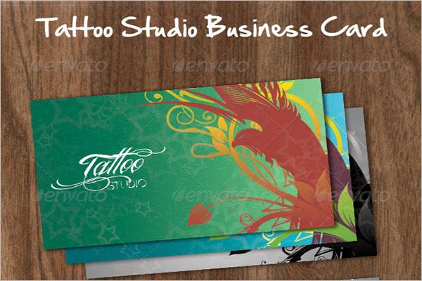 Elegant Tattoo Business Card Template