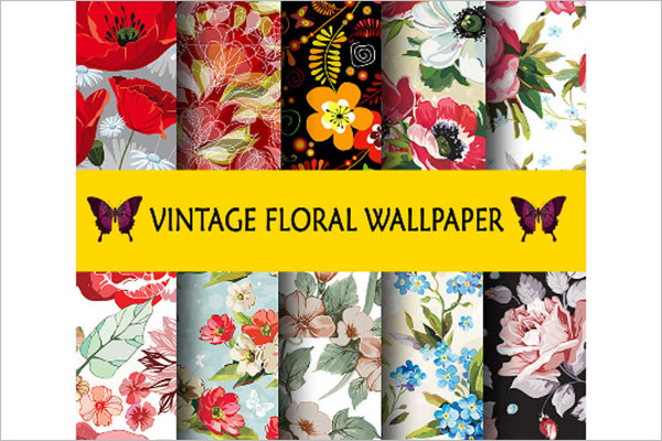 Example Floral Wallpaper Texture