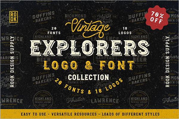 Explorers Font Collection