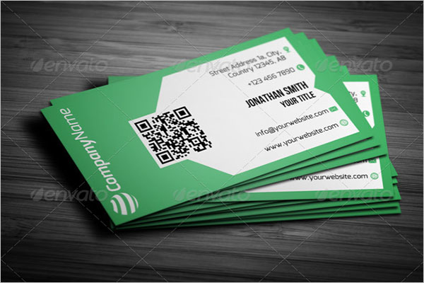 Flat QR Code Business Card